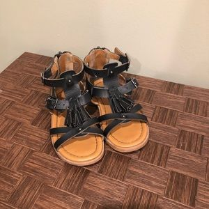 Girl's H&M Black Sandals In Toddler Size 9.5